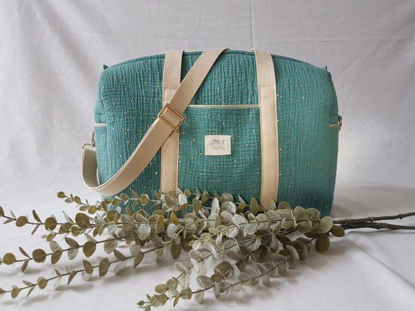 sac à langer vert eucalyptus