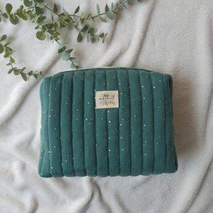 trousse de toilette vert eucalyptus