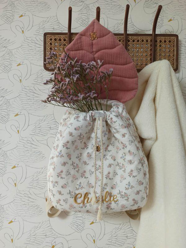 sac à dos enfant feuille fleuri
